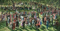 The Winners Enclosure Ascot by Sherree Valentine Daines - Limited Edition on Canvas sized 48x26 inches. Available from Whitewall Galleries